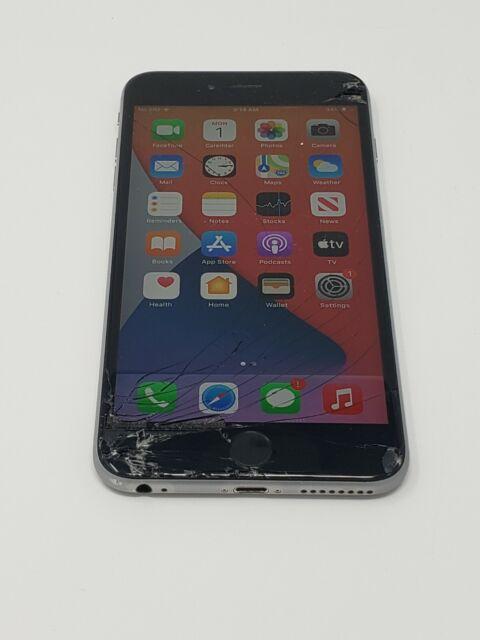 CRACKED Apple iPhone 6s Plus - 64GB - Space Gray (Unlocked) A1687 (CDMA + GSM)