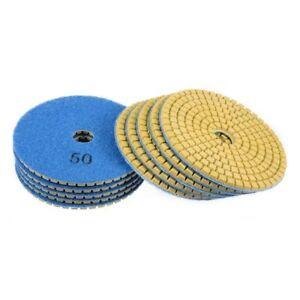 "4"" Diamond Polishing sanding grinding pad Grit 50 (130 PIECE) terrazzo concrete"
