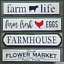 "Assorted Metal Enamel Embossed Signs 8/"" x 36/"""