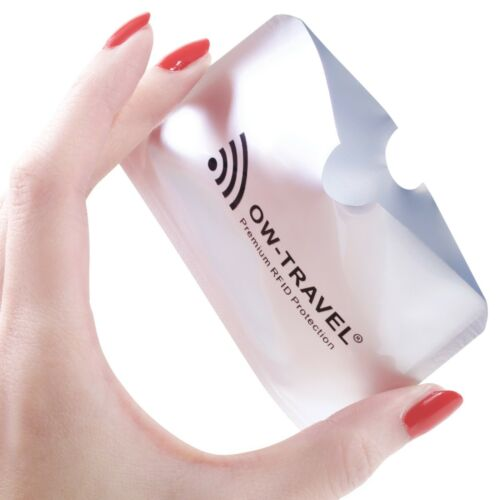 ✅ NEW SureSECURE RFID /& NFC Blocking Credit Card and Passport Protector Sleeves