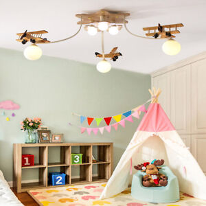 Ceiling Lamp Boy Bedroom Cute Airplane
