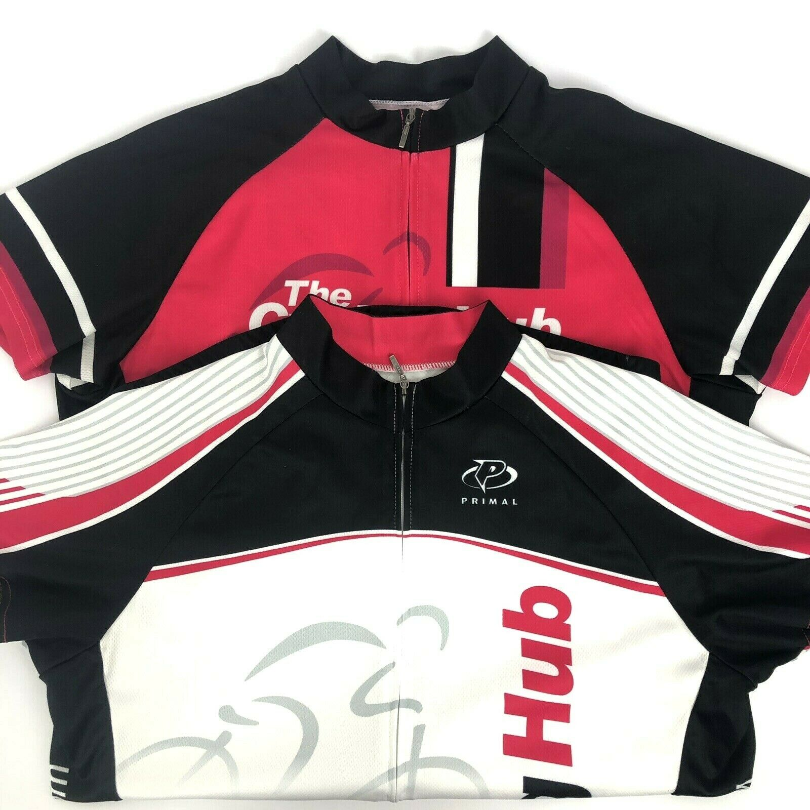 2 Primal The Cycle Hub Pink White Cycling Jersey  Shirt Women Size XL  clearance up to 70%