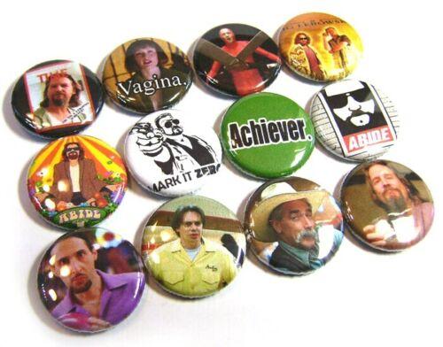 "12 The BIG LEBOWSKI Buttons 1/"" Badges Pinbacks One inch Bridges Cult Movie DUDE"