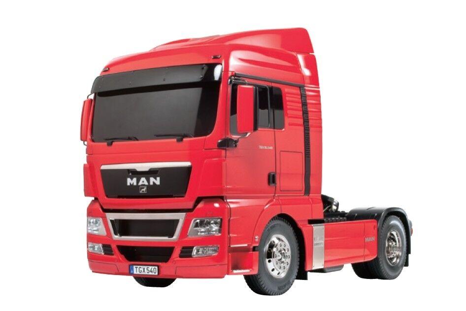 Tamiya 1 14 Man TGX 18.540 4x2 Xlx Semi Camión Kit-Rojo Edition TAM56332