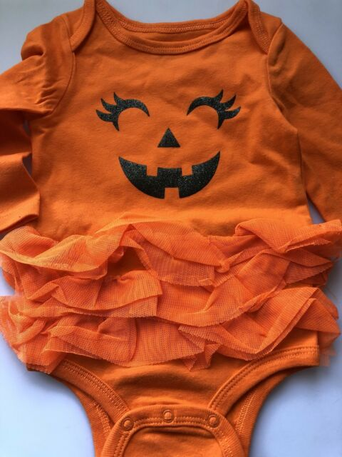 3mths Girl Baby Pumpkin TUTU Tulle ruffle Halloween Party Costume Romper PROP