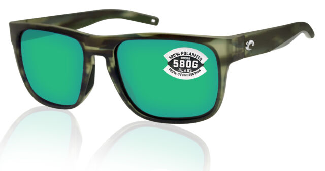 Green Glass 580G NEW Costa Del Mar Spearo Polarized Sunglasses Tortoise Black