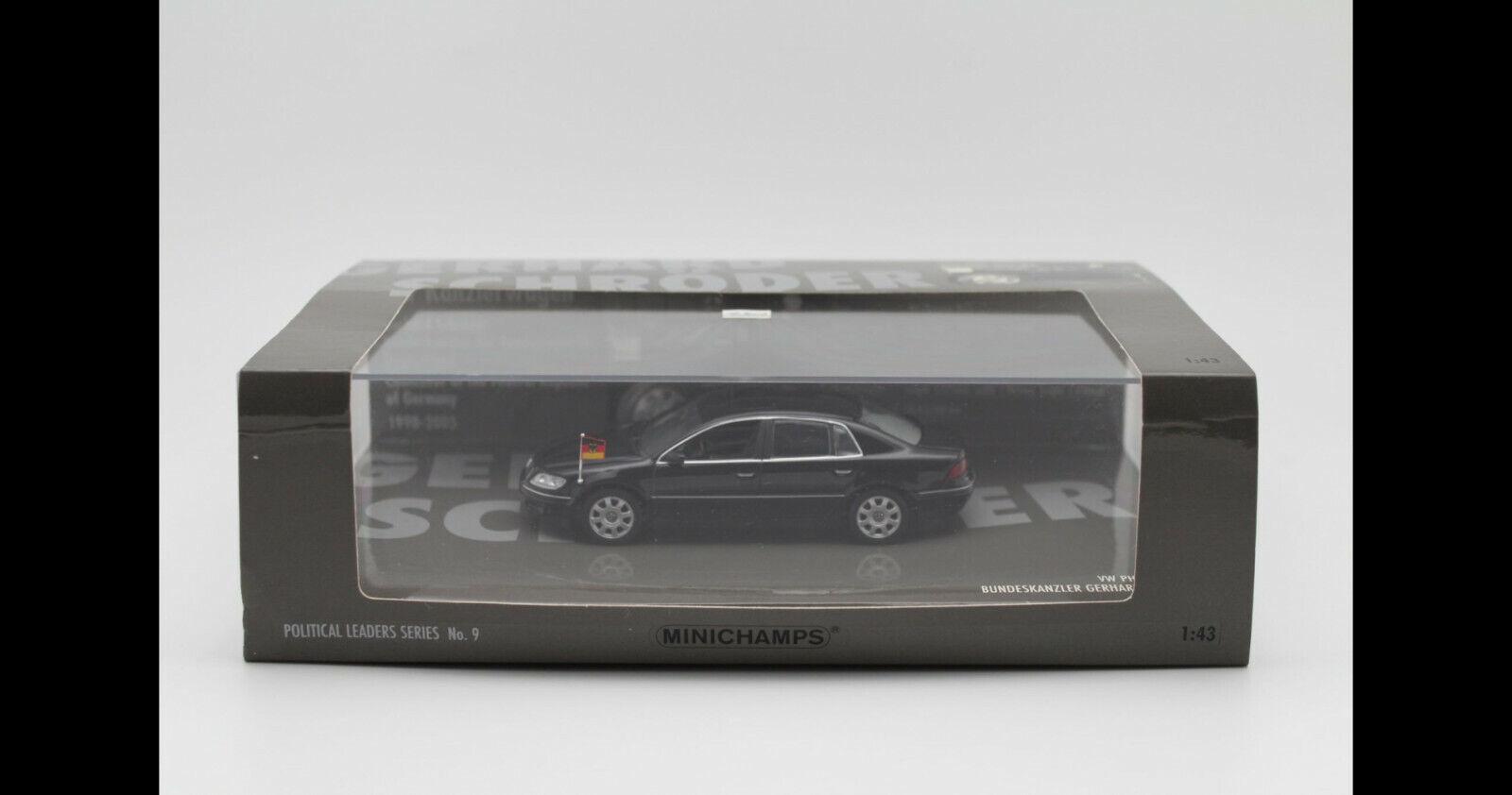 1 43 Minichamps VW Volkswagen Phaeton W12 (2002) Gerhard Schroder Schroeder NEW