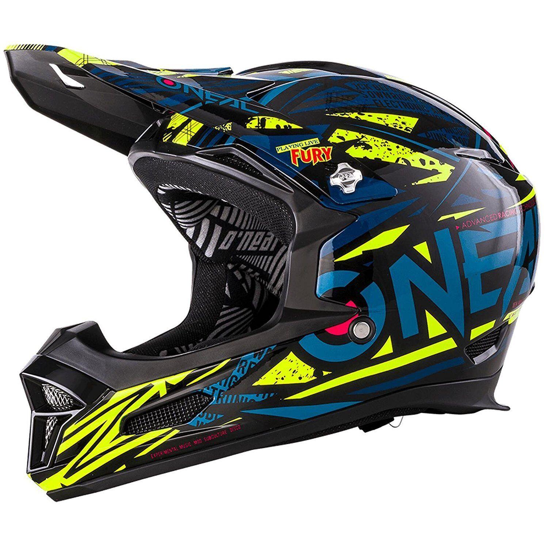 O'Neal Fury Rl Synthy Blu Hi-Viz Casco per Bicicletta Bicicletta Bicicletta Full FACE Downhill XL ( 23a1bf