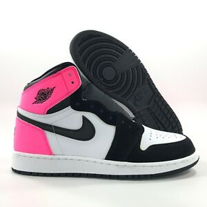 air jordan 1 retro high rosas y negras