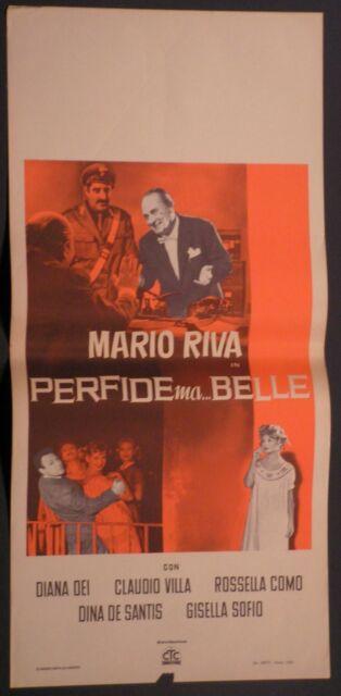 Locandina PERFIDE MA BELLE 1960 RARISSIMA!! MARIO RIVA, CLAUDIO VILLA, DIANA DEI