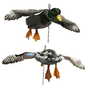 DEADLY-DECOYS-MALLARD-DRAKE-FLYER-FLAPPER-DUCK-DECOY-FLOCKED-HEAD-DEA-152
