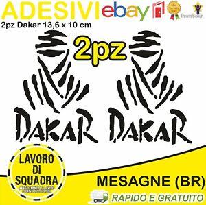 2-Adesivi-Dakar-Paris-Africa-Honda-KTM-Vinile-Decalco-Moto-Stickers-NERO-BLACK