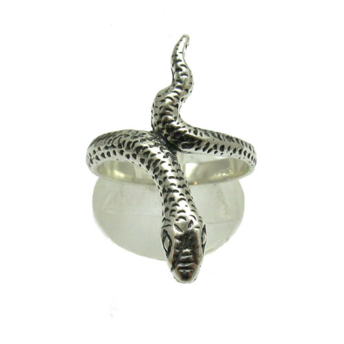 Sterling silver ring solid 925 Snake R001126 Empress