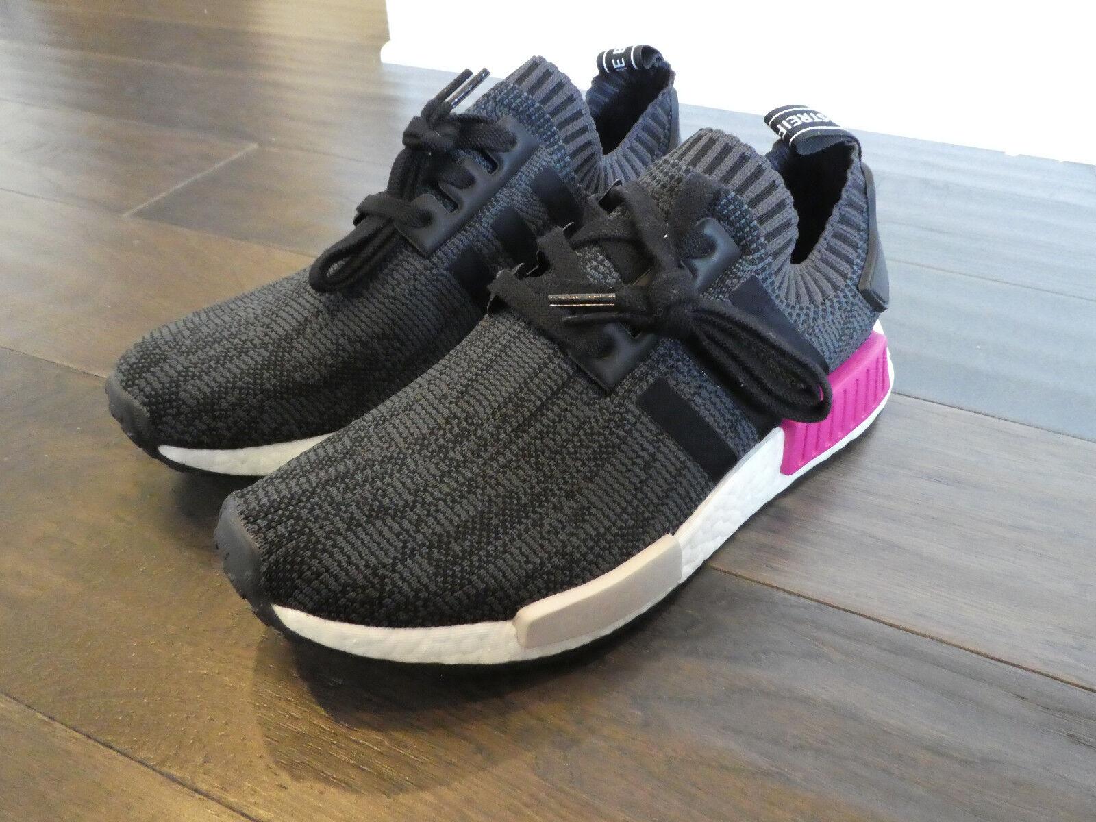 Adidas Women's NMD_R1 Boost shoes sneakers new BB2364 black PK Primeknit