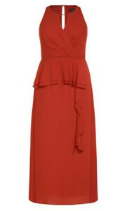 New-with-Tags-CITY-CHIC-Maxi-Cascade-Dress-size-16-size-S-RRP-179-95