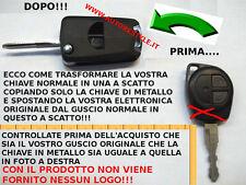 CHIAVE SCOCCA GUSCIO TRASFORMATO A SCATTO FIAT 16 SEDICI OPEL AGILA - NO LOGO -