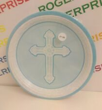8 x Radiant Cross 1st First Holy Communion Religious Party 9\  Paper Plates- BLUE  sc 1 st  eBay & 8 Christening 1st Communion Cross Grace Party Large 22.8cm Paper ...