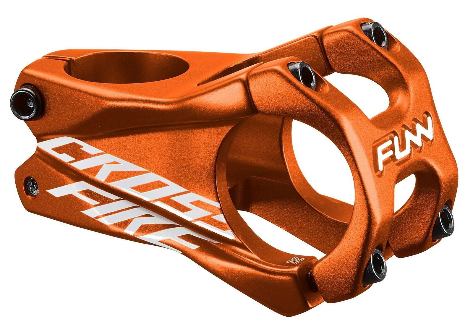 Funn Crossfire MTB Stem, Bar  Clamp 35mm (Length 50mm, orange)  come to choose your own sports style