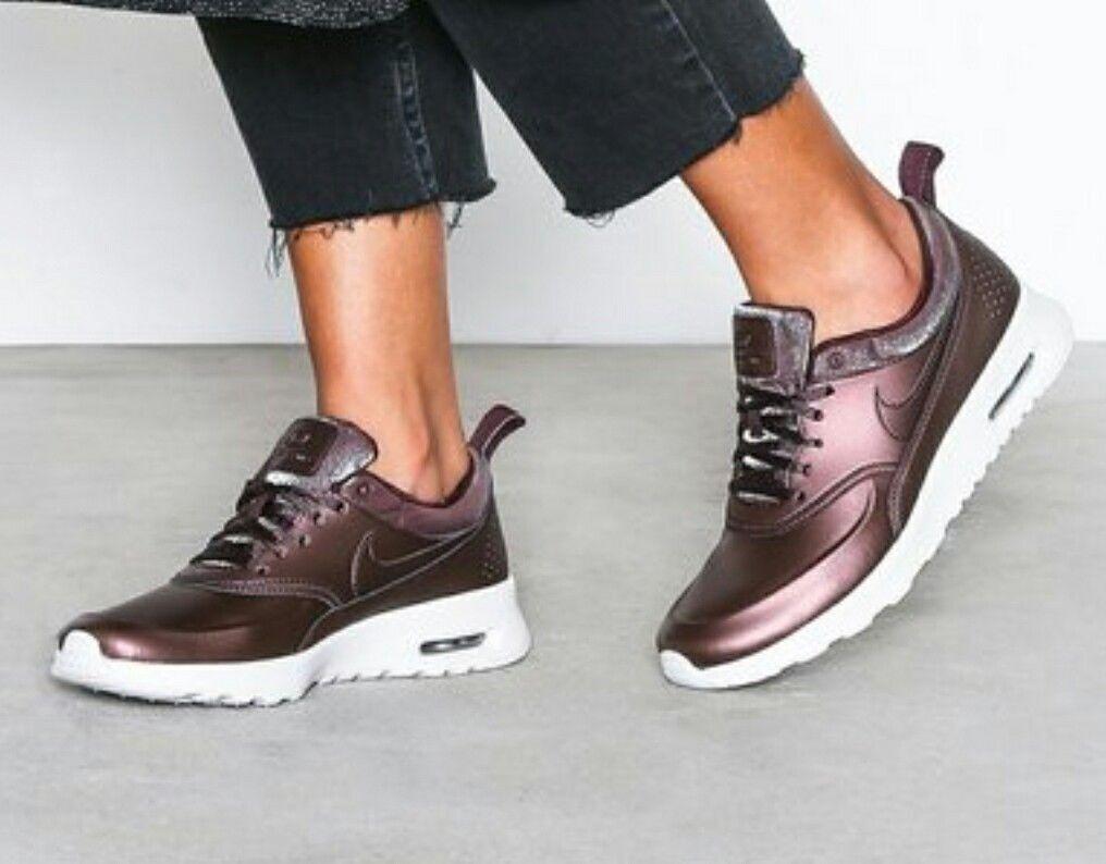 Nike Wouomo Air Max Thea Premium Mahgony Metallic Lightweight scarpe  Dimensione 5