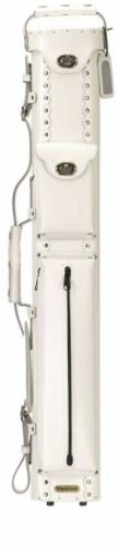 Vincitore 3x5 White Leather Pool Cue Case w// FREE Shipping