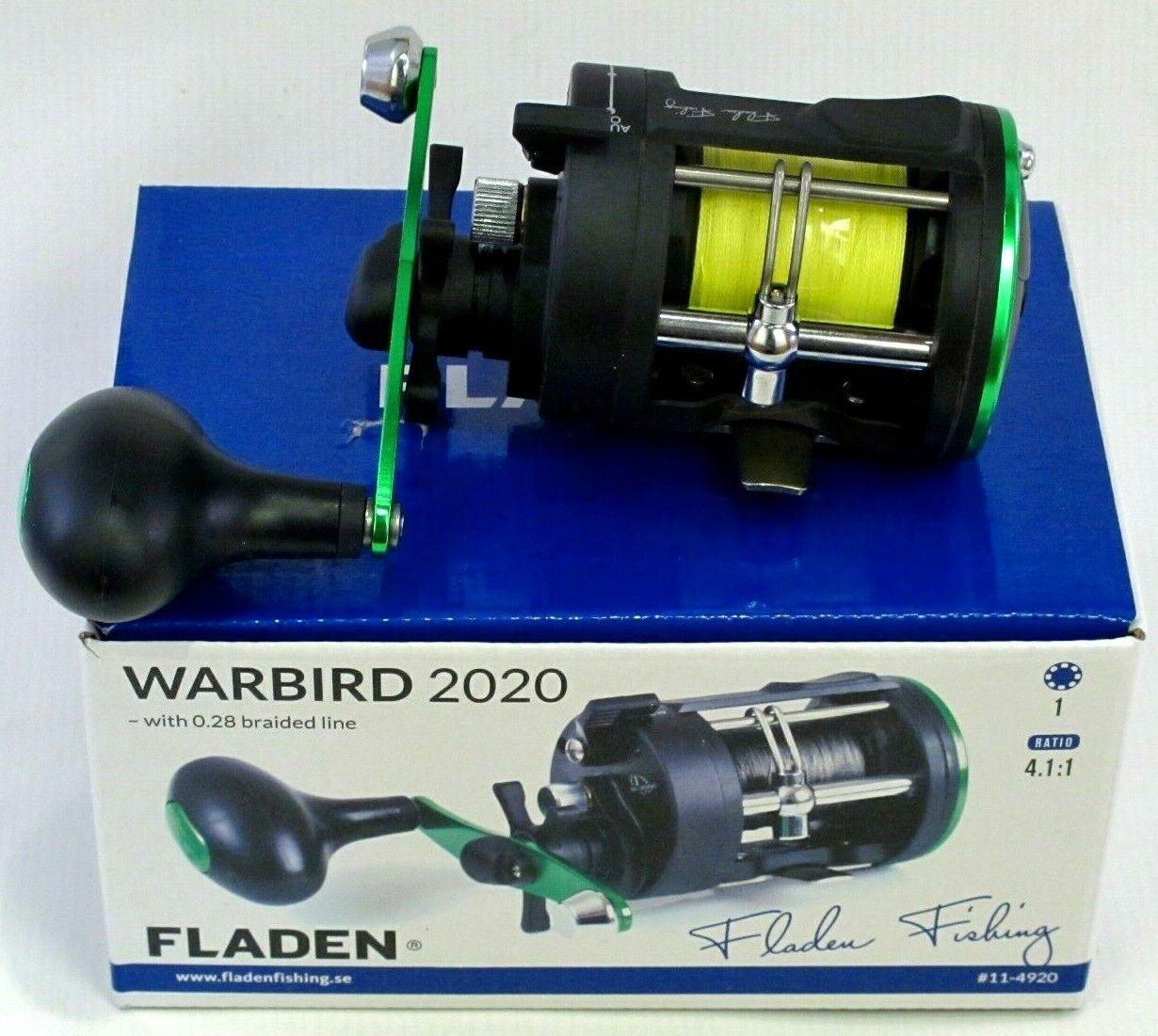 Fladen Warbird 2020 barco 1bb Mar  Multiplicador Reel De Pesca Con 0.28 Trenza de línea  Web oficial
