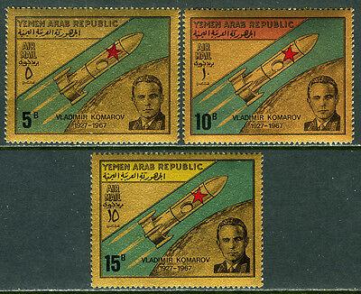 1968 Gute QualitäT Jemen C33n-c33p Soviet Ingenieur Mi 710-712 Postfrisch Vladimir Komarov