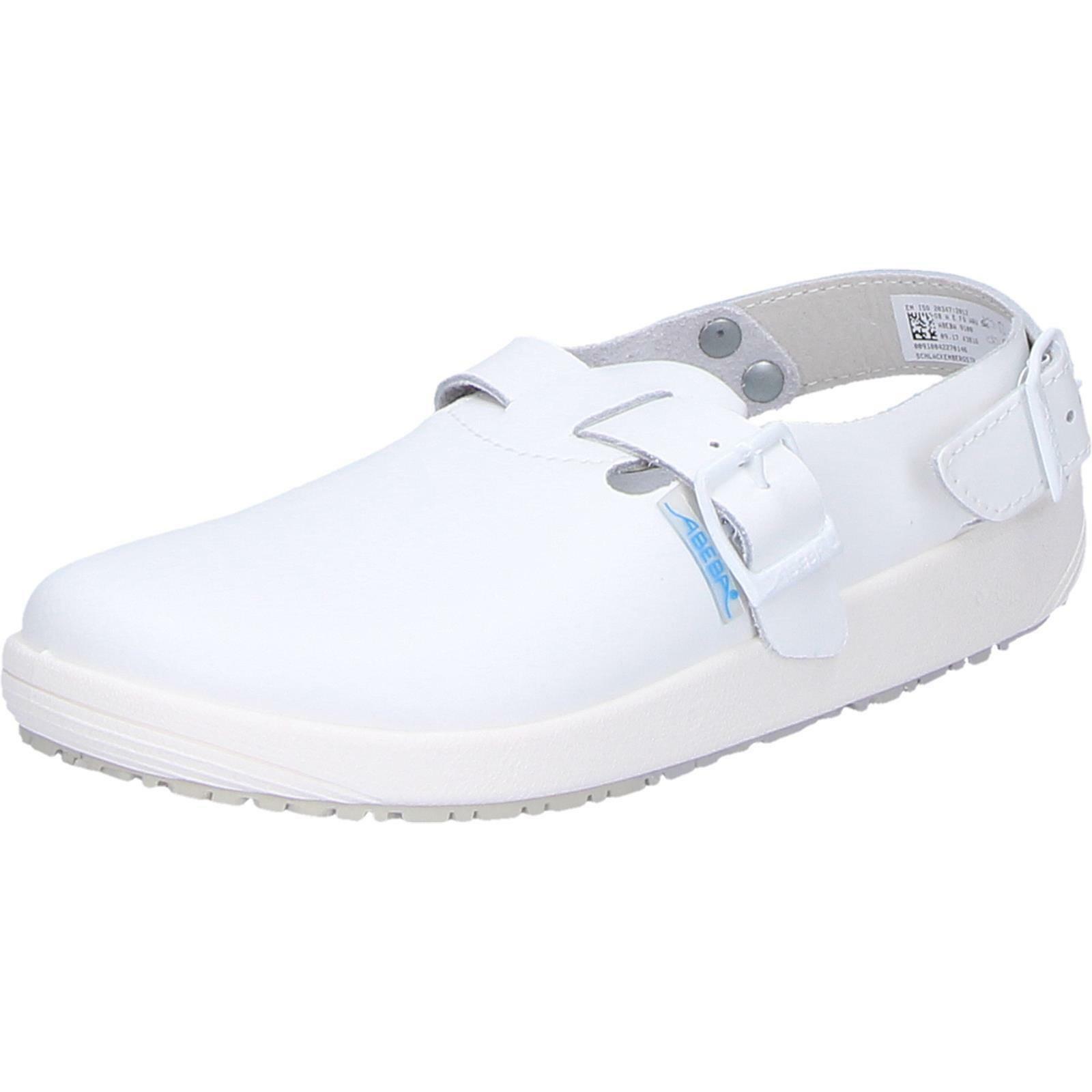 Abeba Schuhe Berufsschuhe Arbeitsschuhe Glattleder weiß Gr.44