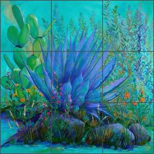 Southwest-Tile-Backsplash-Libby-Garden-Flower-Floral-Art-Ceramic-Mural-SLA035