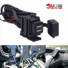 12V Waterproof Dual USB Motorcycle Phone GPS Power Supply Port Socket Charger