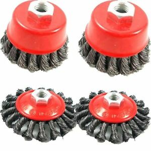 4pc-TWIST-KNOT-SEMI-FLAT-WIRE-WHEEL-CUP-BRUSH-SET-KIT-FOR-115MM-ANGLE-GRINDER