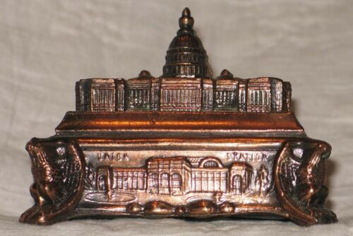 VTG U.S. Capital Building Copper Metal Bank Souvenir America Washington DC