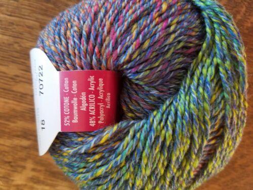 Beautiful Filatura di Crosa Blue Multicolored Spun Carioca Ocean Mix Yarn