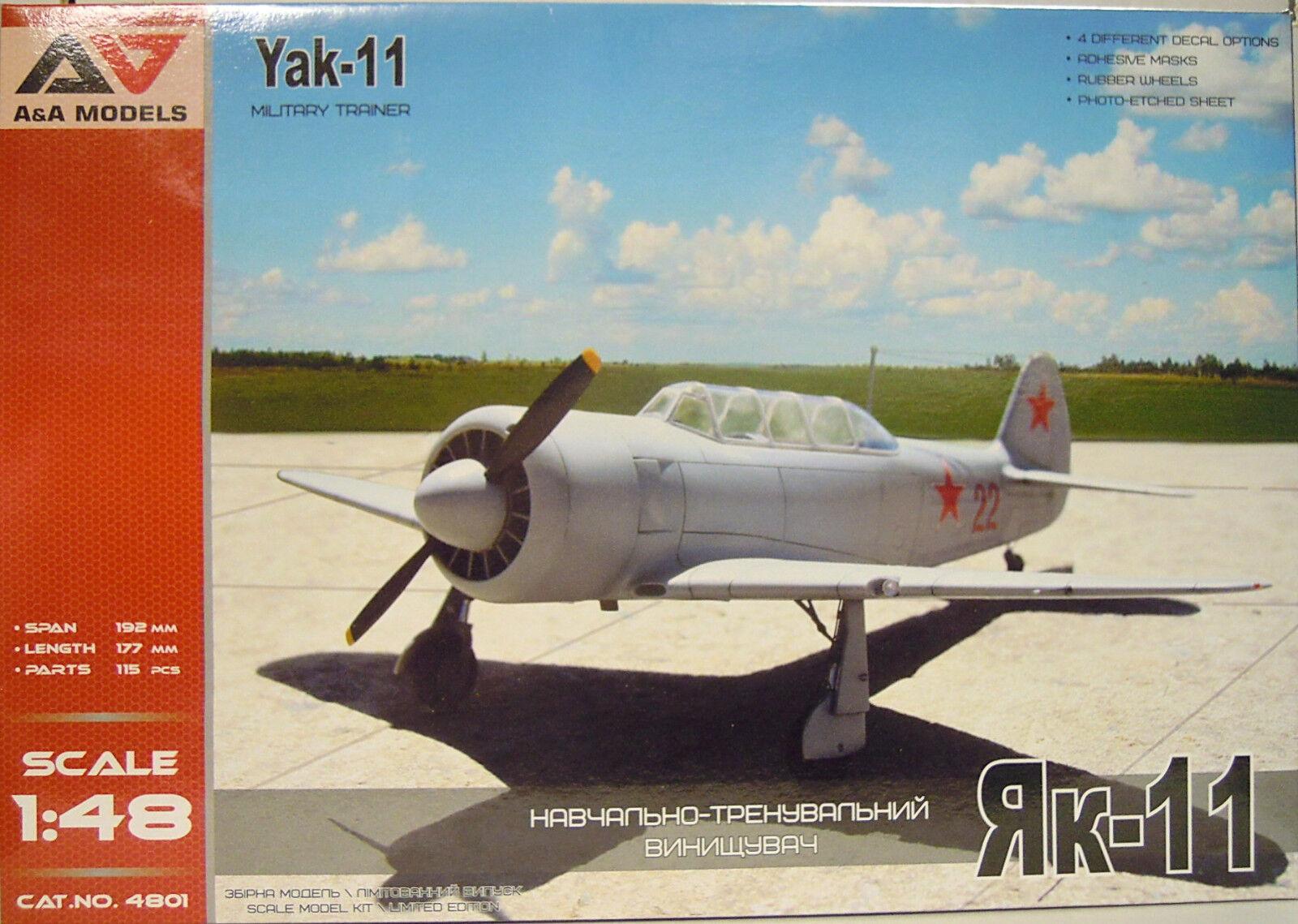 Jakowlew Jak-11 , 1 48, A&A Models, NVA, Ungarn,Bulgarien, SU , Ätzteile, Neu