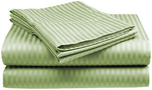 King-Size-Sage-400-Thread-Count-100-Cotton-Sateen-Dobby-Stripe-Sheet-Set