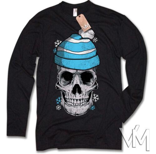 Hiver Skull US Culte Noël Ski Snowboard Cadeau Chemise manches longues fun
