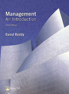 Management: An Introduction by David Boddy (Paperback, 2005)