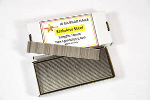 BOX 5000 18 GAUGE 30MM STAINLESS STEEL BRAD NAILS