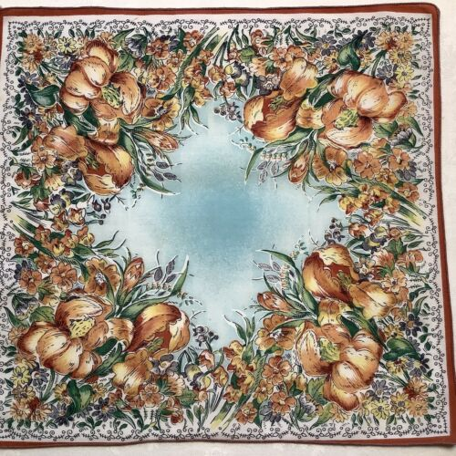 #6300🌟Vintage 40s Unusual Field Of Floral IRISES