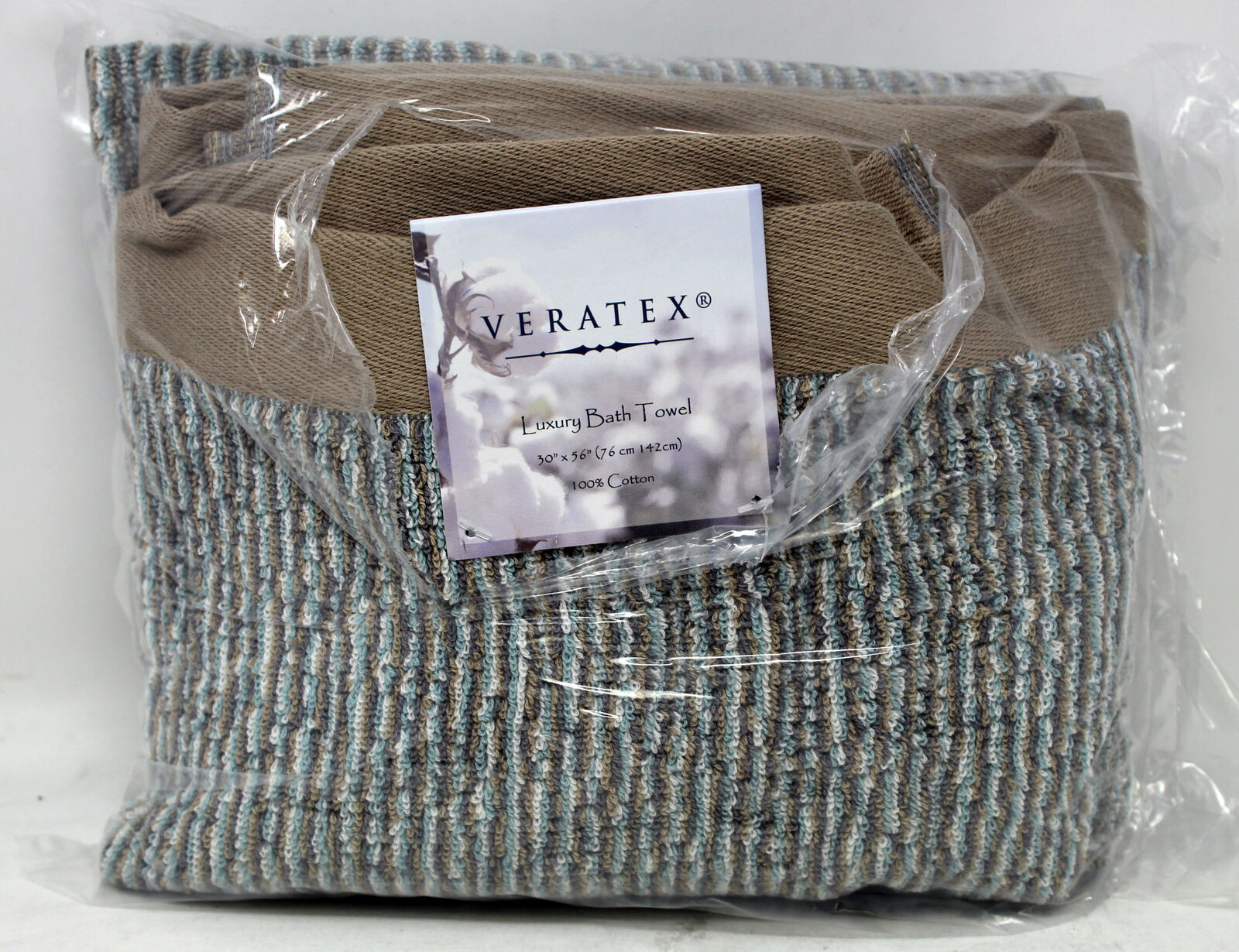Veratex 100% Cotton Luxury Bath Towel Flaxen - Natural 1 Count