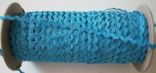 """144 Yds Turquoise//White 1//4/"""" Polyester Rick Rack Sewing Trim Roll"""