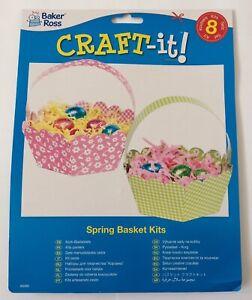 Baker-Ross-Spring-Easter-Basket-Pack-Of-8-Ideal-Treat-Or-Egg-Hunt-Baskets