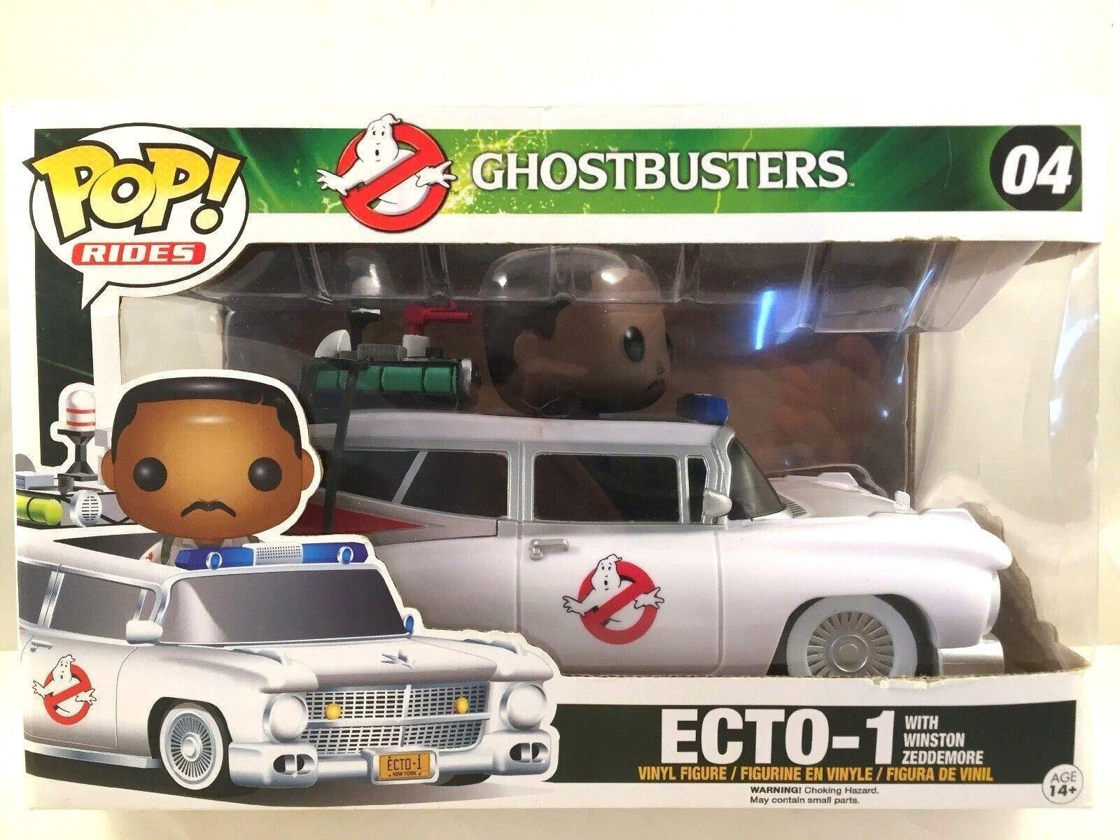 Funko Pop Rides Ghostbusters Ecto-1 w  Winston  missing top window