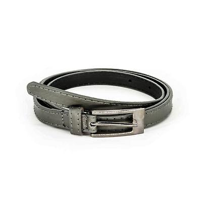 15mm Grigio Donne Ragazze Cintura Skinny Sottile Fibbia Moda Abbigliamento Pacchetto Elegante E Robusto