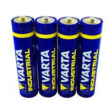 4 x Varta AAA batteries Alkaline Industrial LR03 Micro 4003 MN2400 FREE Shipping