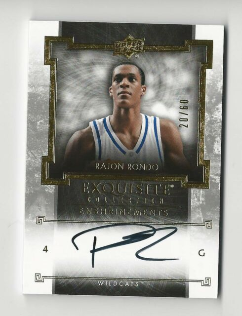 Rajon Rondo 2013-14 UD Exquisite Enshrinements Auto Card Kentucky Celtics /60