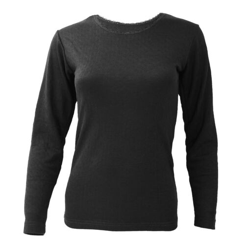 FLOSO Ladies//Womens Thermal Underwear Long Sleeve T-Shirt//Top THERM129