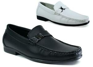 Mens-Slip-On-Casual-Formal-Loafers-Boat-Driving-PU-Shoes-UK-Size-6-11