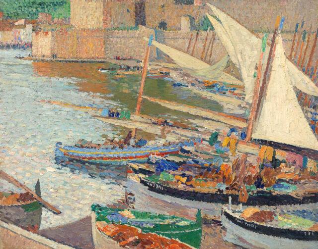 Martin Henri White Sails In Collioure Canvas 16 x 20  #5049