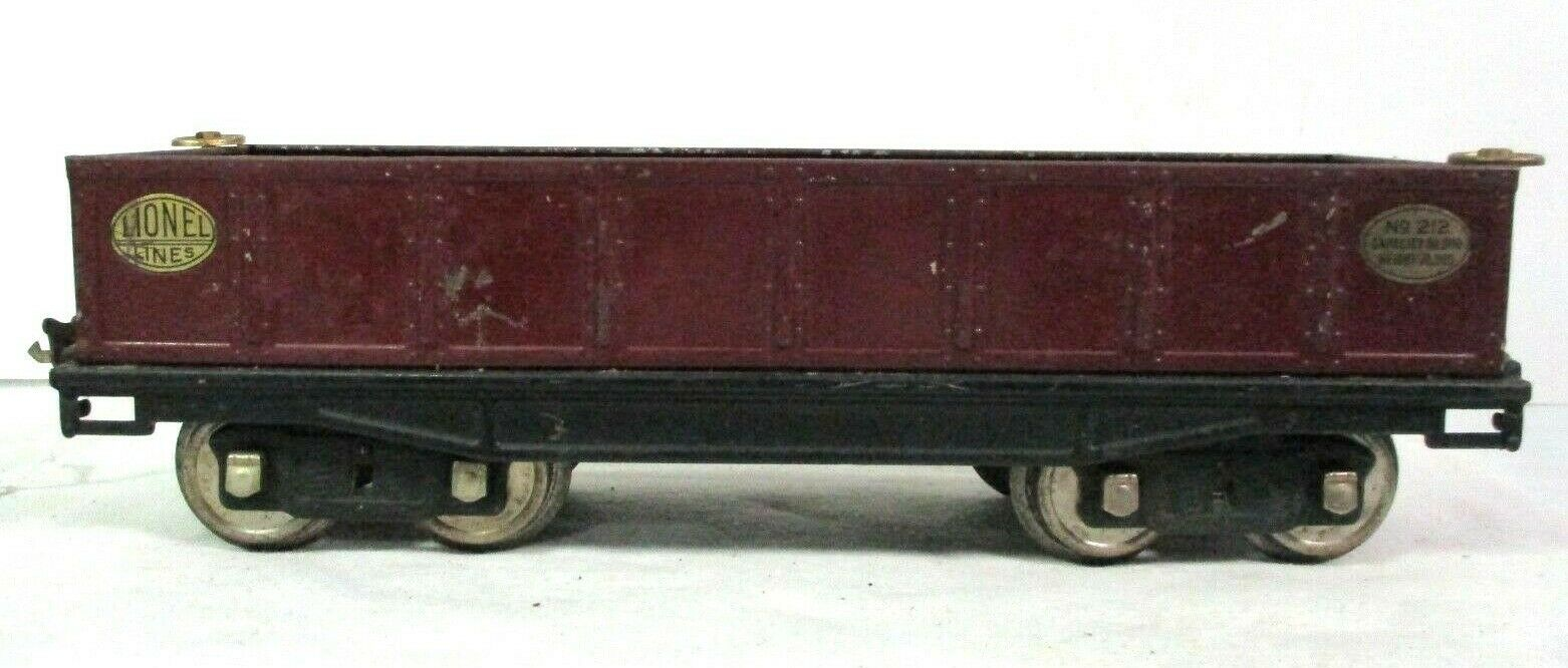 Lionel Lines Gondola Car in Maroon Pre War Vintage Model Railway B36-1
