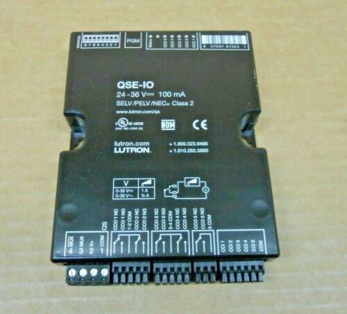 8 AVAILABLE 1 NIB LUTRON QSE-IO QSEIO CONTROL INTERFACE MODULE 24-36V 100MA